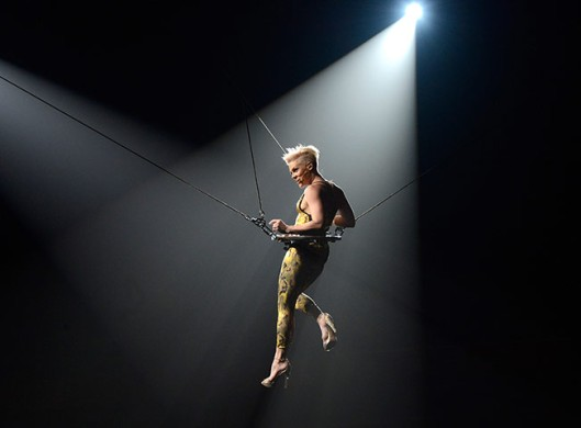 Pink performs on the first night of her Truth About Love tour in Phoenix
